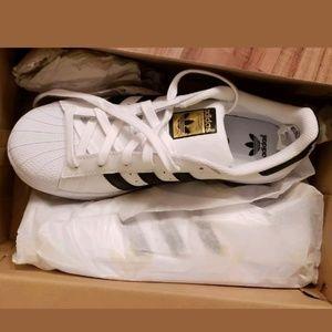 Adidas superstar onyx gold shell toe size 7